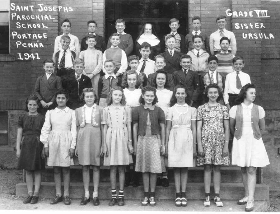 Parochial School - Cambria County, Pennsylvania Old Photos -- School Class Photos